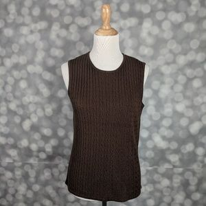 Jennifer Moore Cable Knit Shell